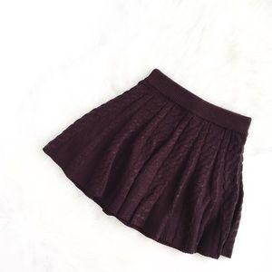 Kimchi Blue | chocolate plum knitted skater skirt